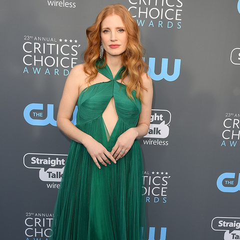 Jessica Chastain Wearing Emerald Green