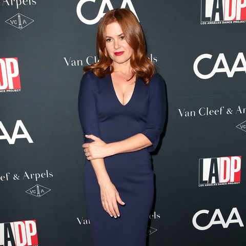 Isla Fisher Wearing Deep Blue