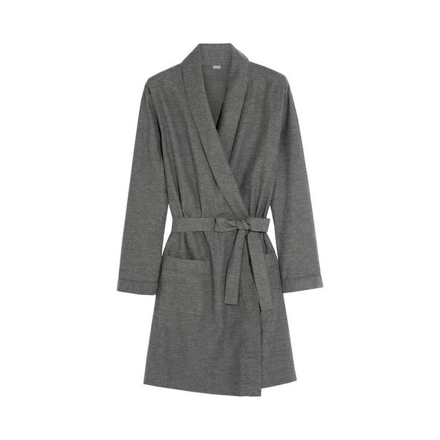 Bodas Herringbone Brushed Cotton Robe