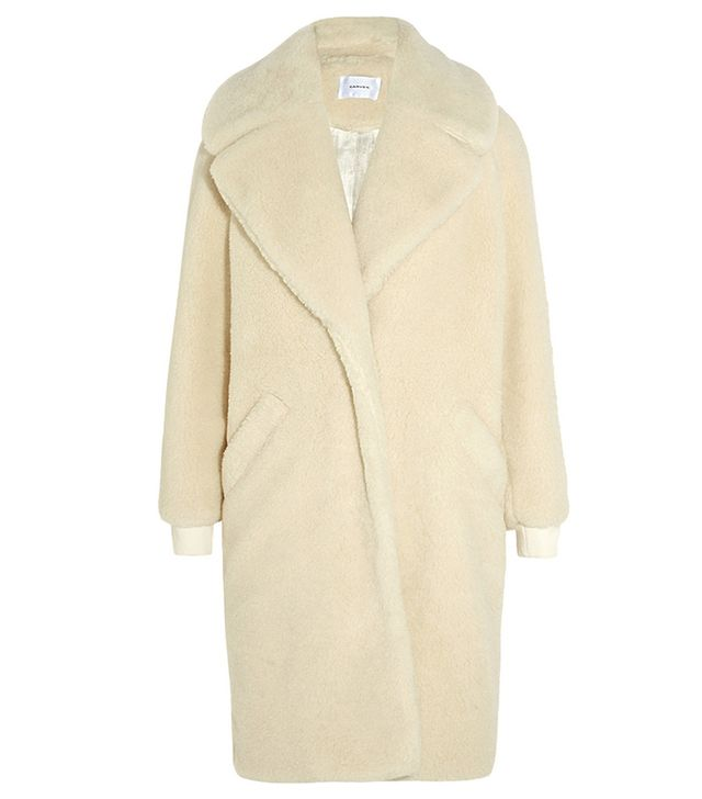 Carven Oversized Shearling Coat