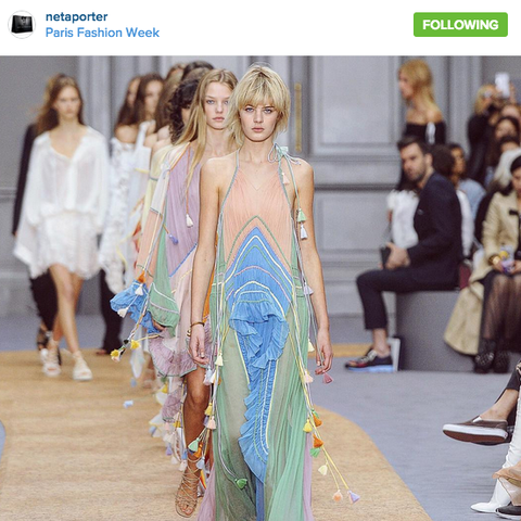 The Top Instagram Photos from Chloé's Spring Show