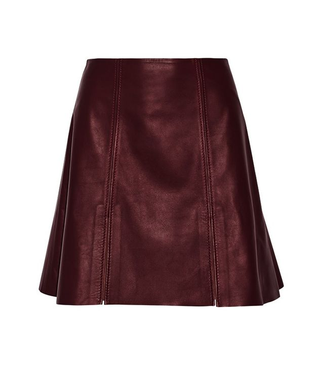Acne Studios Leather Mini Skirt