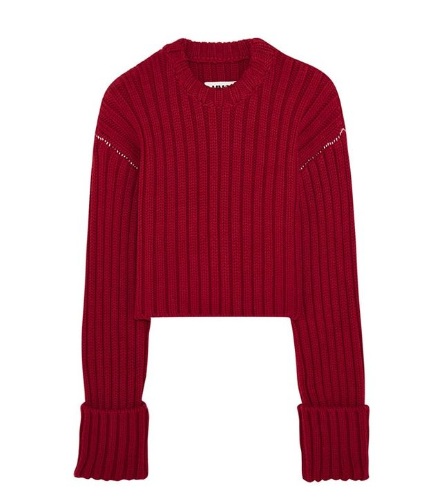 MM6 Maison Margiela Cropped Wool Sweater