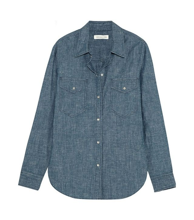 Étoile Isabel Marant Cotton-Chambray Shirt