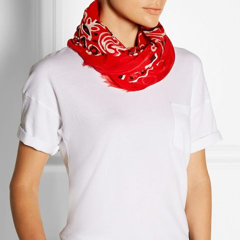 Printed Modal Cashmere And Silk Blend Scarf