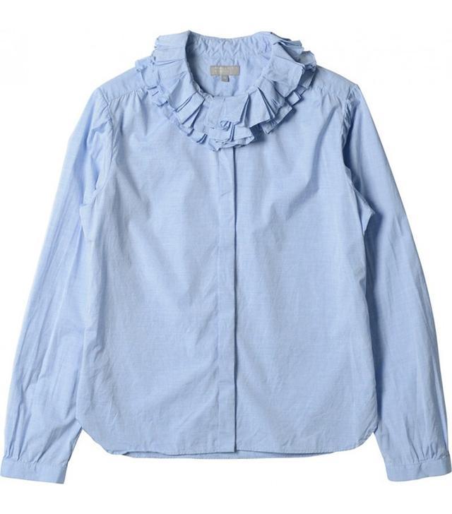 Margaret Howell Double Ruffle Shirt