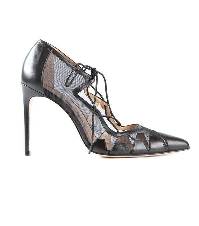 Bionda Castana Leather Strap High Court Shoes