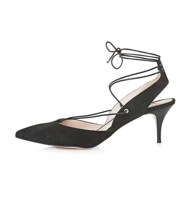 Topshop Mid-Heel Ghillie Shoes