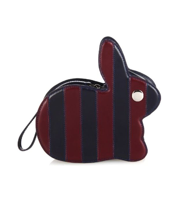 Hillier Bartley Multi-Striped Leather Bunny Bag