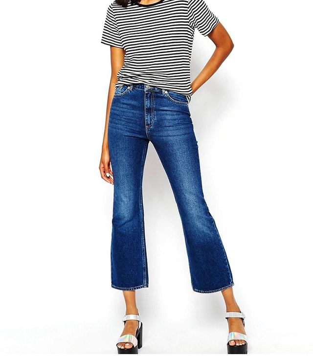 Monki Cropped Flared Jeans