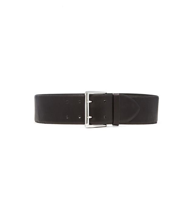 Linea Pelle Double Prong Feathered Waist Belt