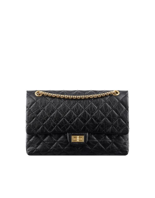 Chanel 2.55 Flap Bag in Quilted Aged Calfskin
