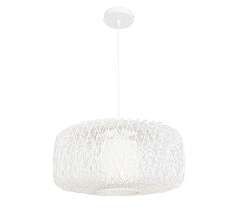 Beacon Lighting Florida 450mm Wicker Pendant in White