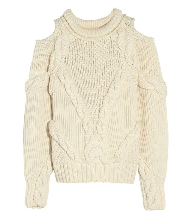 Alexander McQueen Cut-Out Cable-Knit Jumper