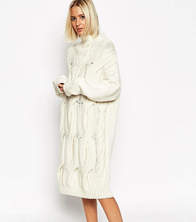ASOS White Cable-Knit Dress