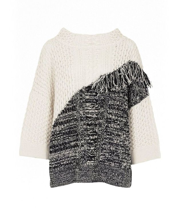 French Connection Fringed Cable-Knit Jumper