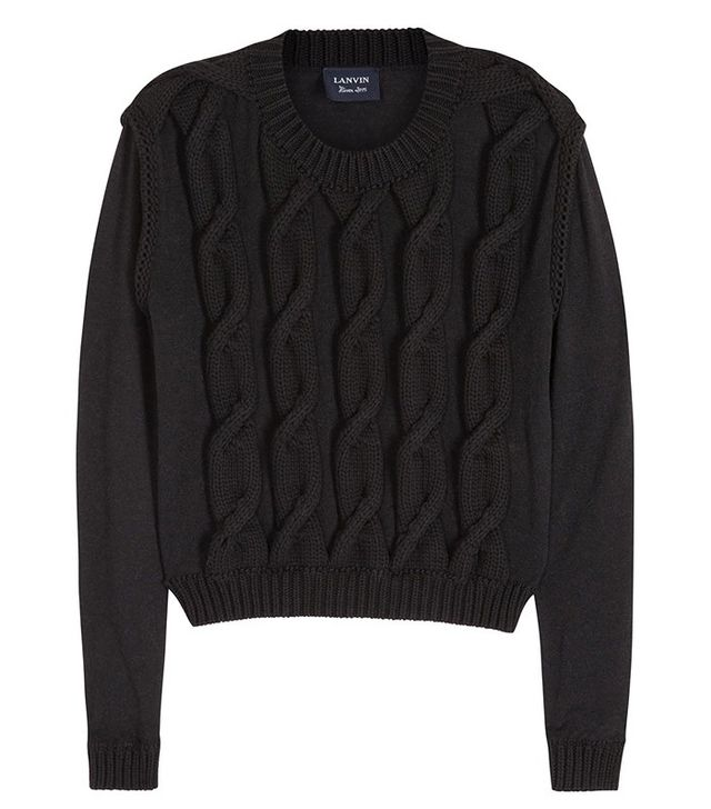 Lanvin Cable-Knit Cropped Jumper