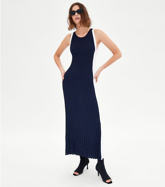 Zara Long Two-Tone Dress