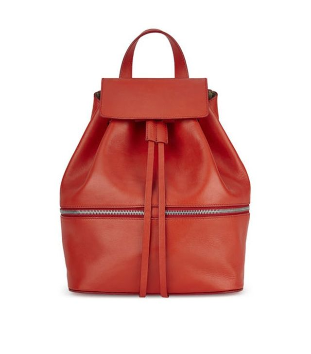 "Whistles Soho Leather Drawstring Rucksack <font color=""black""><strike>£295</strike></font>"