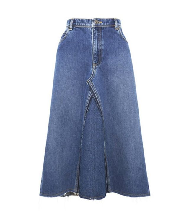 "Whistles Denim Skirt <font color=""black""><strike>£85</strike></font>"