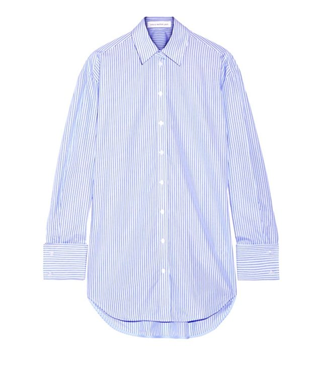 Victoria Beckham Denim Striped Oversized Shirt