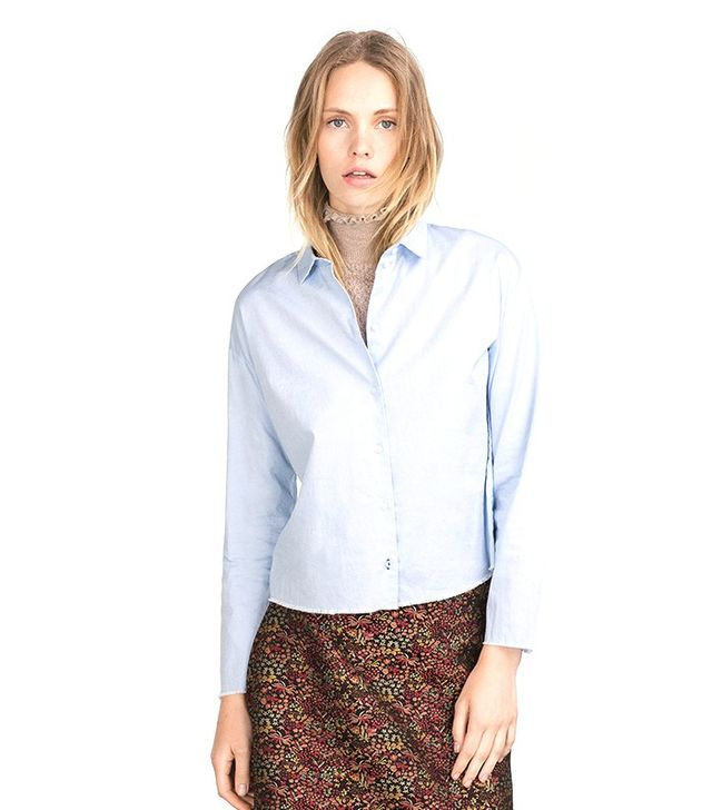 Zara Blue Cotton Shirt
