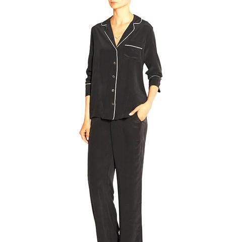 Avery Washed-Silk Pajama Set