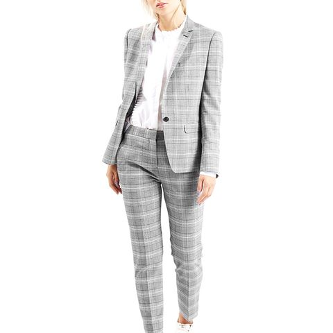 Premium Checked Suit Blazer and Trousers