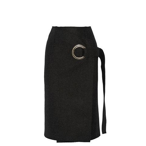 Wool-Felt Wrap Skirt