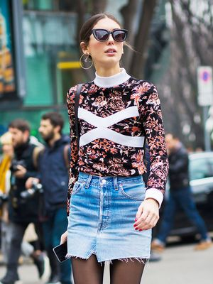 20 Skirts to Wear With Tights This Fall
