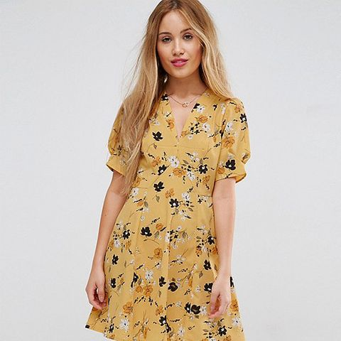 Tea Dress in Ditsy Floral