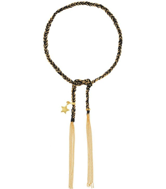 Caroline Bucci Health Lucky 10-karat Gold and Silk Bracelet
