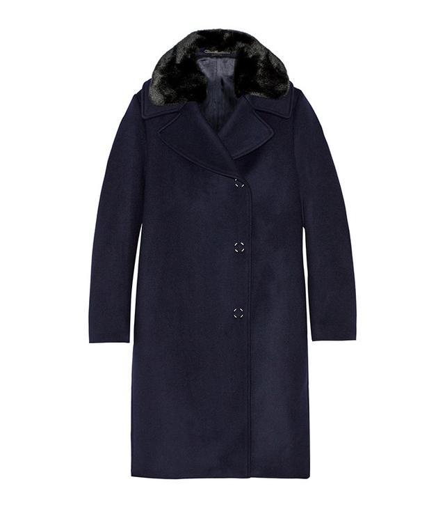 Acne Studios Era Faux Fur-Trimmed Wool-Blend Coat