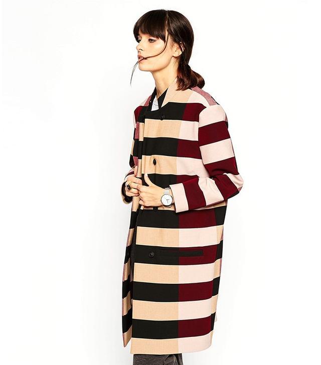 ASOS White Stripe Coat