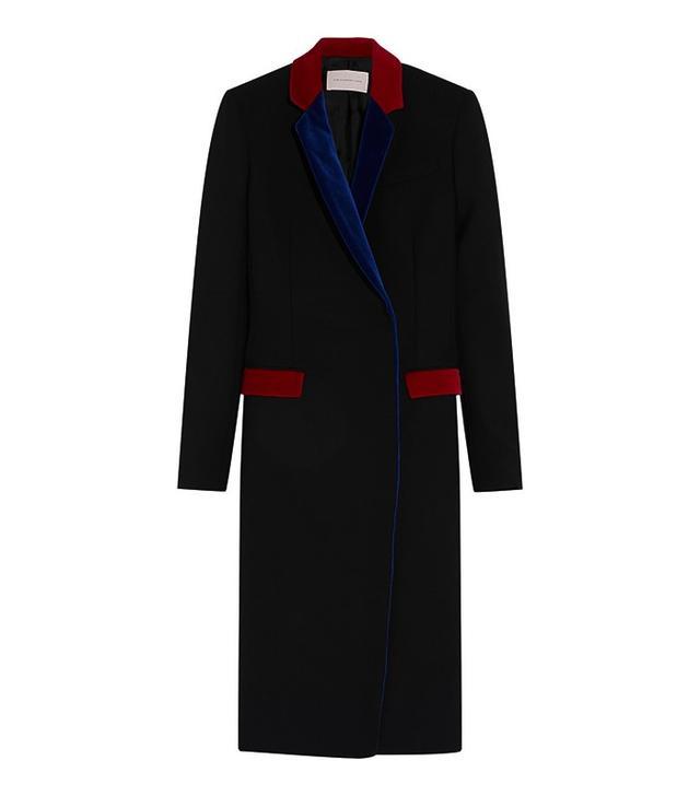 Christopher Kane Wool-Trimmed Velvet Coat