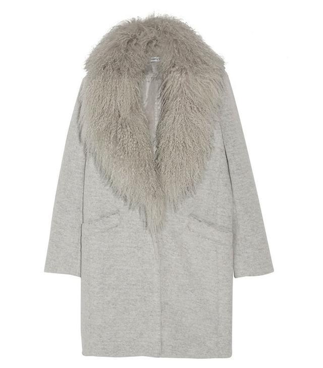 Elizabeth & James Iris Shearling-Trimmed Coat