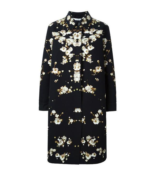 Givenchy Gypsophila Print Overcoat