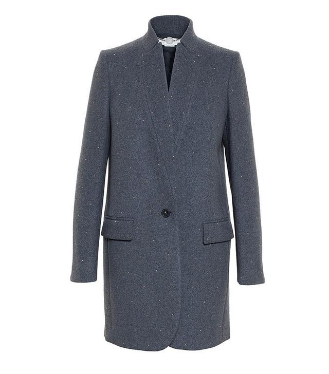 Stella McCartney Studded Wool Overcoat