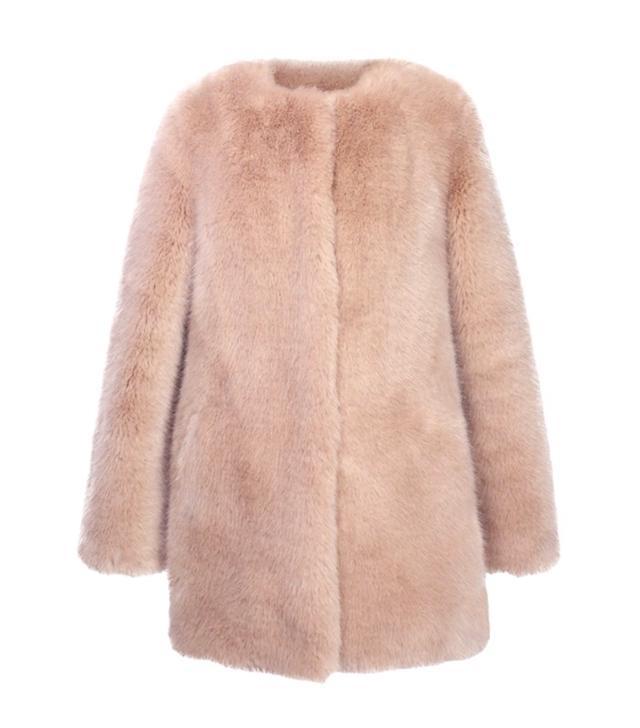 Ruby & Ed Powder Faux Fur Coat