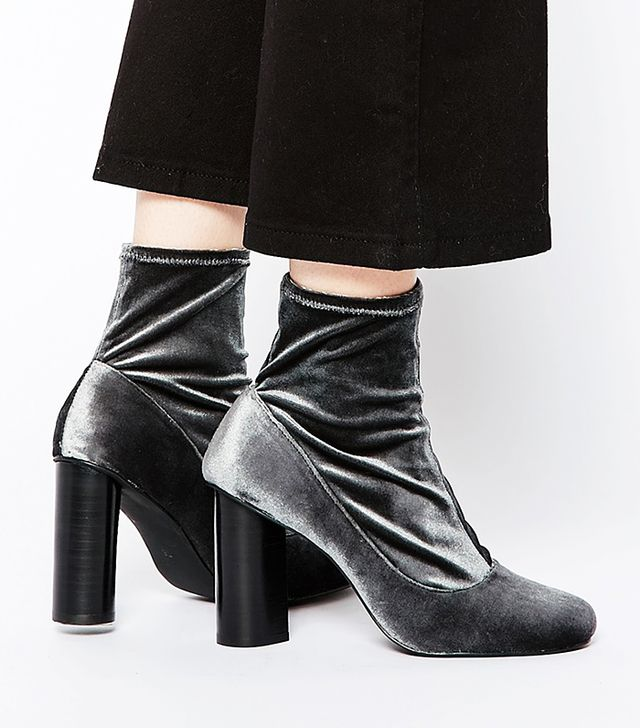 Senso Sonia II Velvet Stretch Heeled Ankle Boots