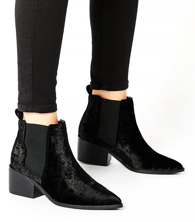 ASOS Right About Now Western Pointed Chelsea Ankle Boots