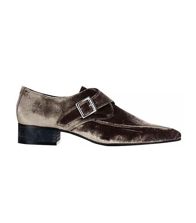Topshop Kreative Velvet Monk Shoes