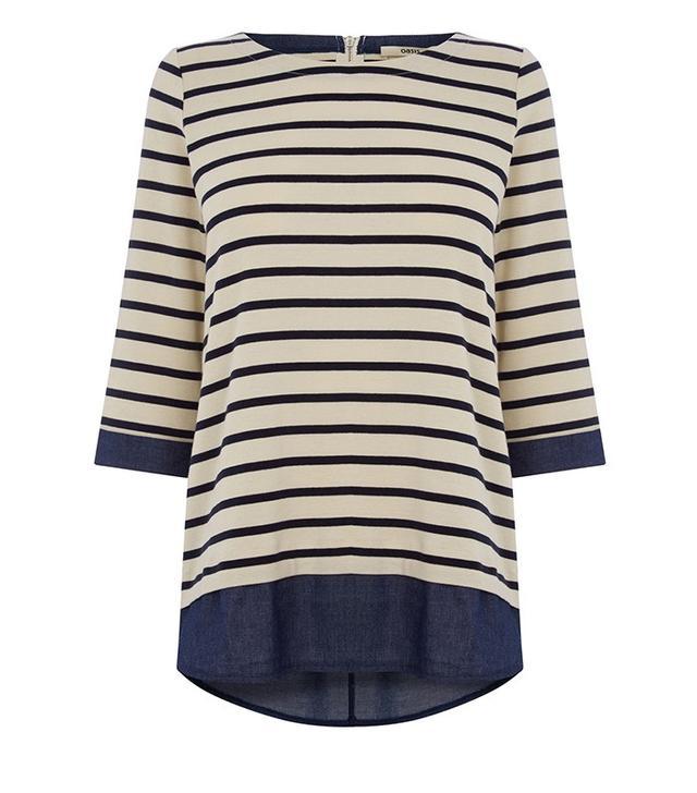 Oasis Breton Stripe Top
