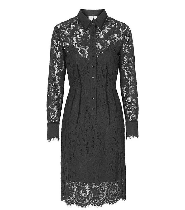 Topshop Oakham Lace Shirt Dress