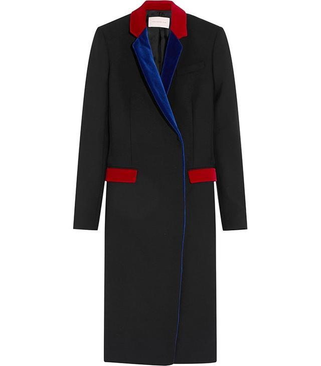 Christopher Kane Velvet-Trimmed Wool Jacket