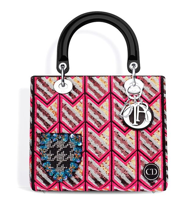 Dior Lady Dior Embroidered BAg