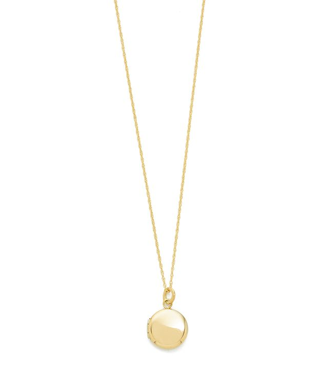 Blanca Monrós Gómez 14k Gold Keepsake Locket Necklace