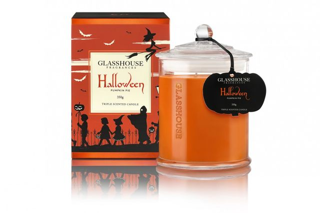 Glasshouse Halloween Triple Scented Candle, Pumpkin Pie