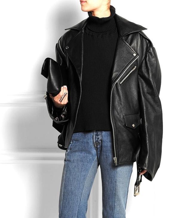 Vetements Oversized Leather Jacket