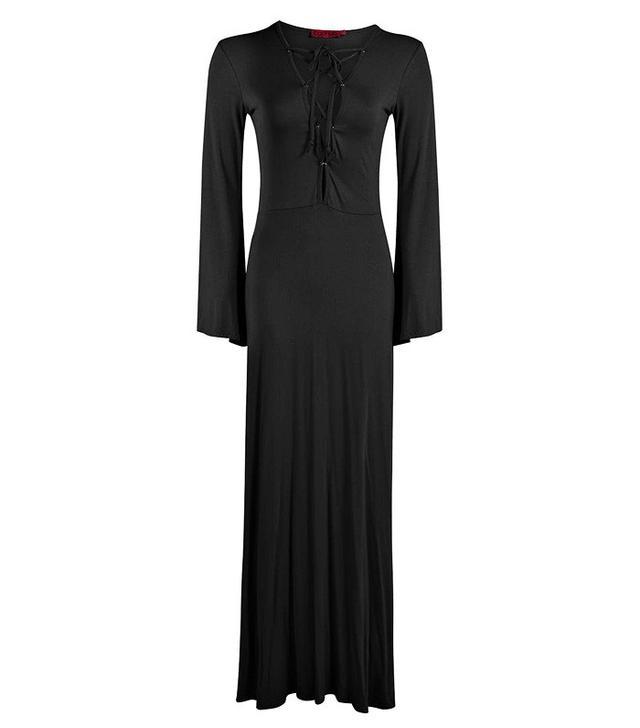 Boohoo Fran Eyelet Detail Maxi Dress